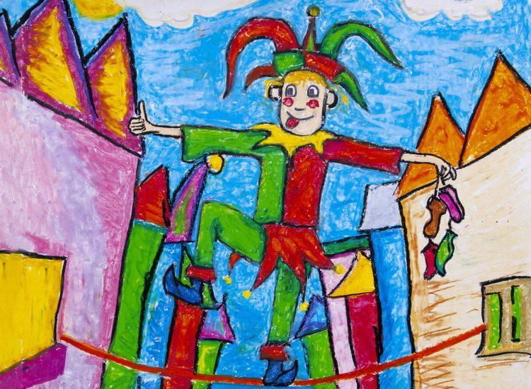 Eulenspiegel Zeichnung Caspar Zizka © Kleine Oper Bad Homburg - bearbeitet